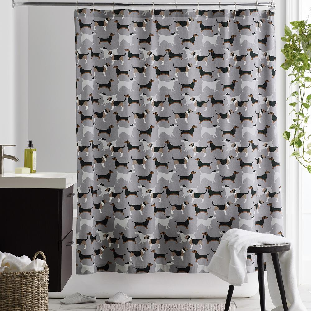 The Company Store Top Dog 72 in. Cotton Percale Shower Curtain, Multi was $68.99 now $40.99 (41.0% off)