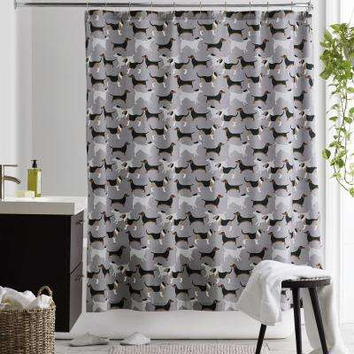 Top Dog 72 in. Cotton Percale Shower Curtain