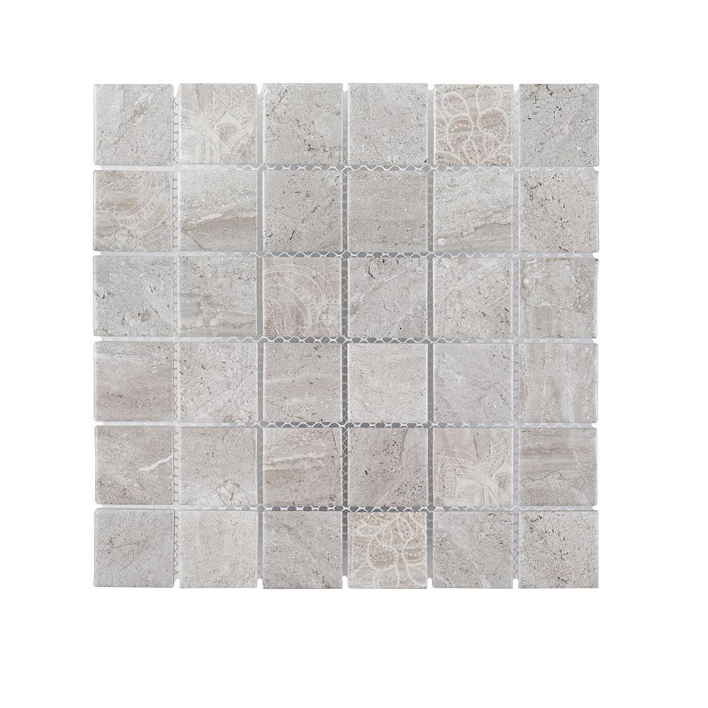 Jeffrey Court Hidden Treasure 12 in. x 12 in. x 6 mm Porcelain Mosaic Tile (1 sq. ft. / each)