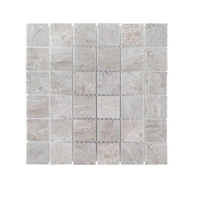 Hidden Treasure Gray 11.875 in. x 11.875 in. Square Matte Porcelain Wall and Floor Mosaic Tile (0.979 sq. ft./Each)