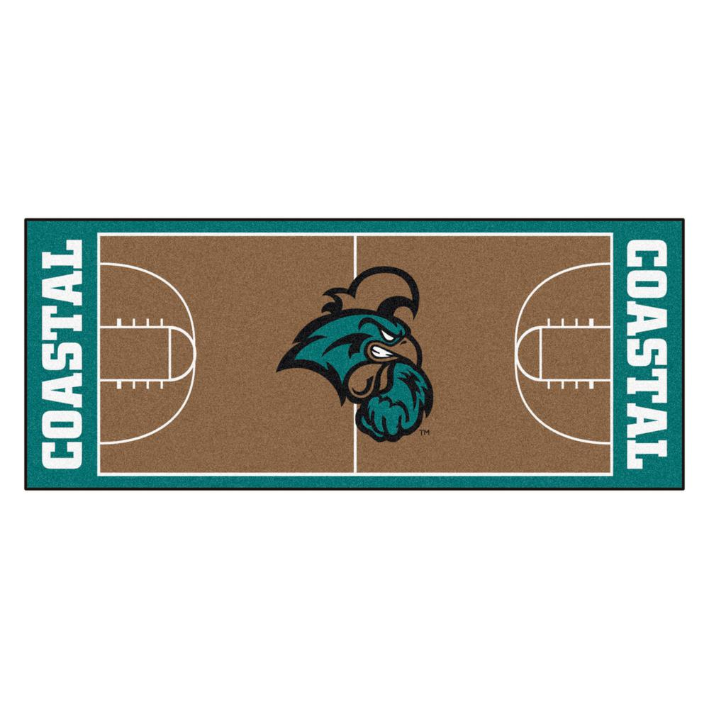 release date 84db4 9c996 FANMATS NCAA Coastal Carolina 30 in. x 72 in. Basketball Court Runner Rug