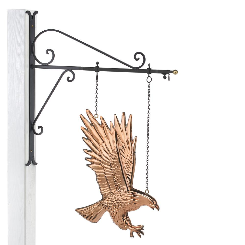 Good Directions Hanging Bald Eagle Pure Copper Weathervane