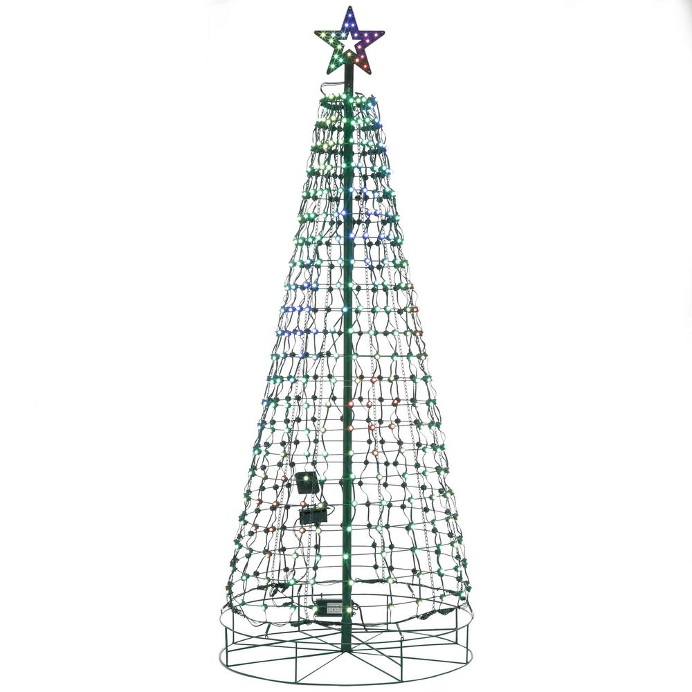 Christmas Yard Pixel Tree Lighted Musical Sculpture