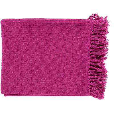 Stanley Magenta Cotton Throw