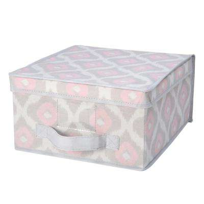 11 in. x 12 in. x 6 in. Medium Storage Box in IKAT