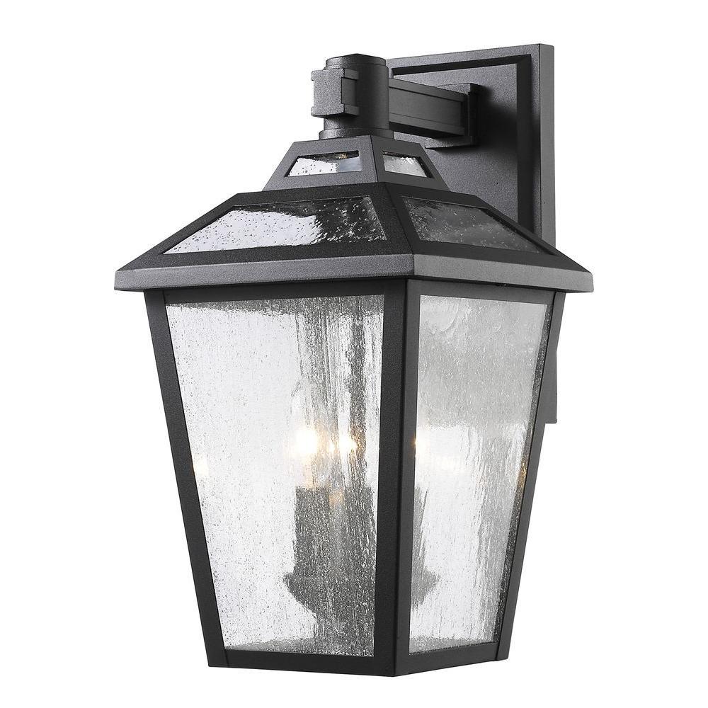 Wilkins 3-Light Black Outdoor Sconce