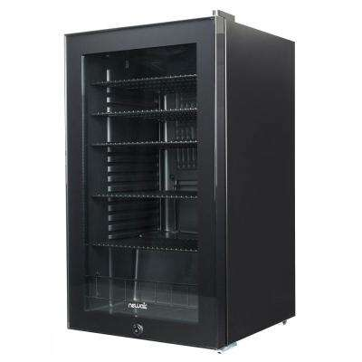 19 in. 126-Can Black Freestanding Beverage Cooler