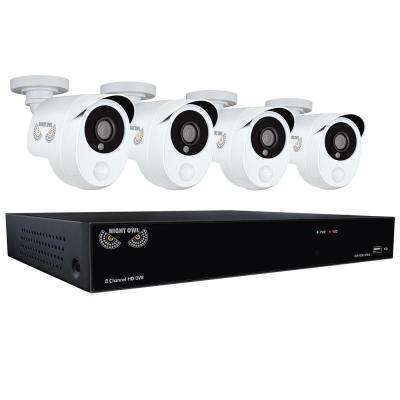 8-Channel 1080p Security System with 1TB HDD Surveillance DVR, 4 x 1080p Smart Infrared Detection Cameras