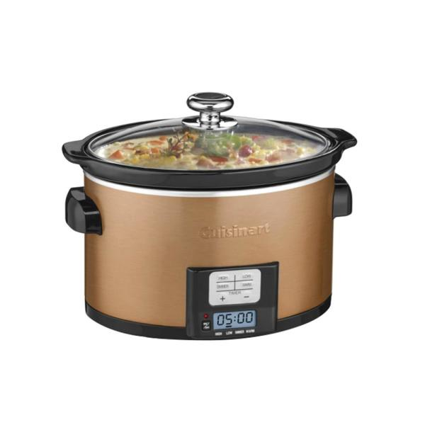 Cuisinart 3.5 Qt. Programmable Slow Cooker in Copper PSC-350CPP