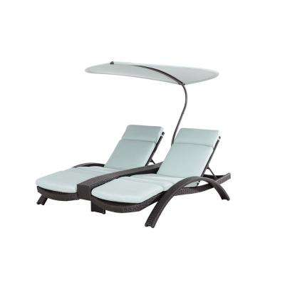 Lotus Patio Lounge Chair with Canvas Spa Cushions