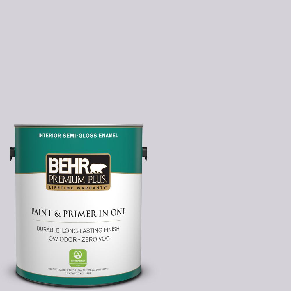 1-gal. #N100-2 Etude Lilac Semi-Gloss Enamel Interior Paint