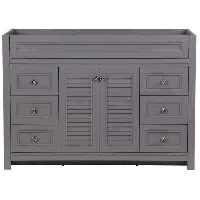 Bayridge 48 in. W x 22 in. D Bath Vanity Cabinet Only in Sterling Gray