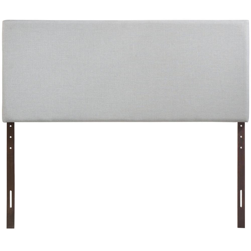 Region Sky Gray Queen Upholstered Headboard