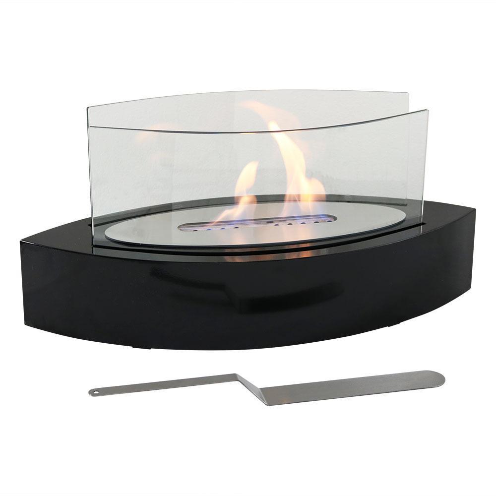 Barco 20 in. Tabletop Bio-Ethanol Fireplace in Black