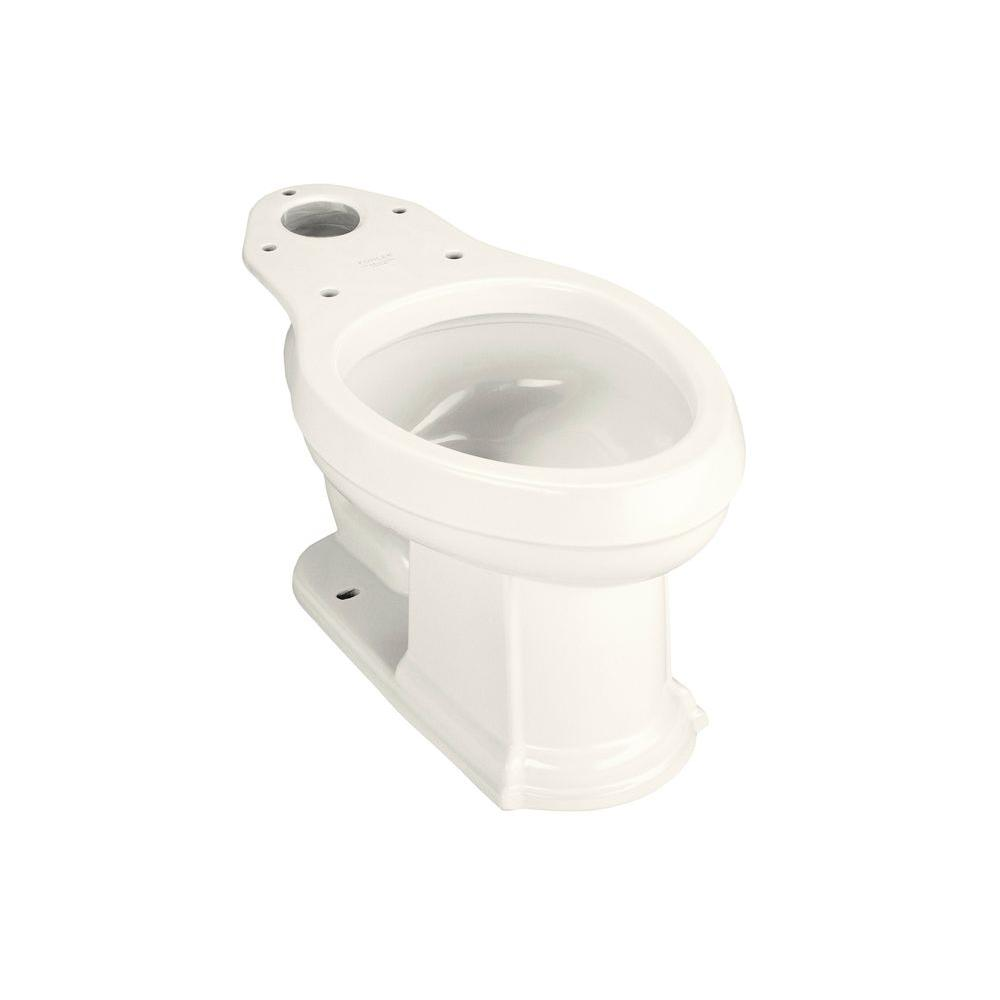 KOHLER Devonshire Elongated Toilet Bowl Only Less Seat in Biscuit-DISCONTINUED