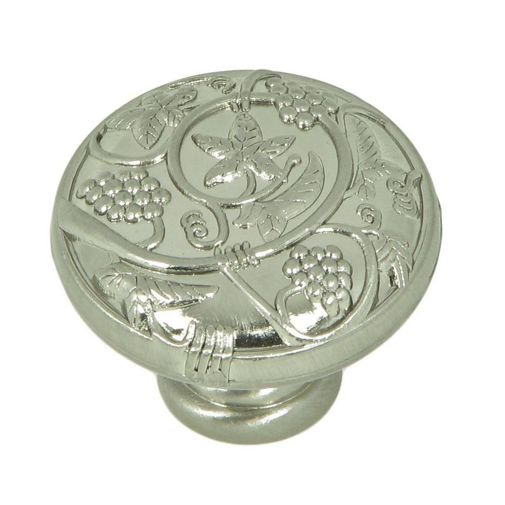 Vineyard Harvest 1-1/4 in. Satin Nickel Round Cabinet Knob