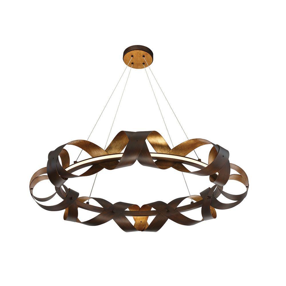 Banderia Collection 40-Watt Medium Bronze Integrated LED Chandelier