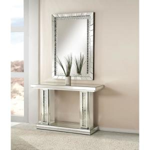 Nysa Silver and Mirrored Console Table