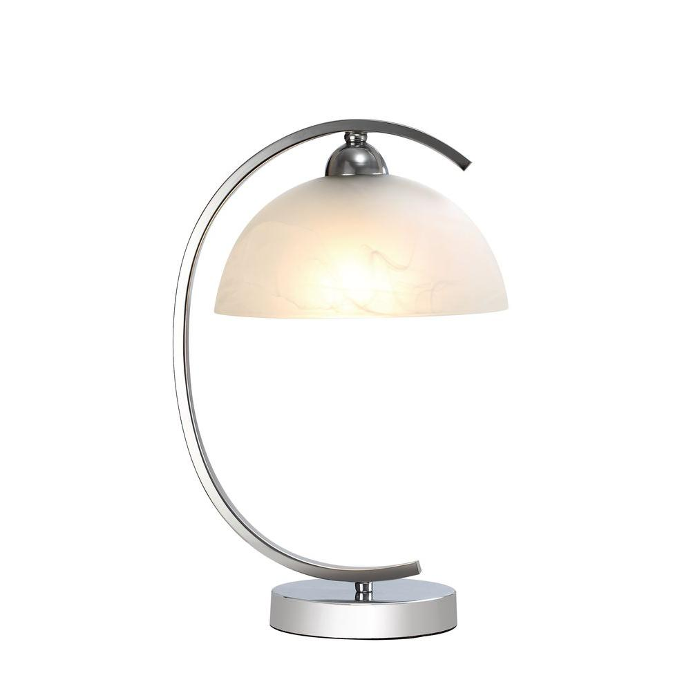 Gentil Chrome Table Lamp With Frosted Glass Shade
