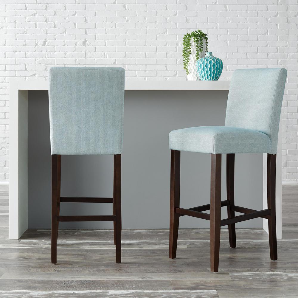 Fantastic Stylewell Banford Sable Brown Wood Upholstered Bar Stool Beatyapartments Chair Design Images Beatyapartmentscom