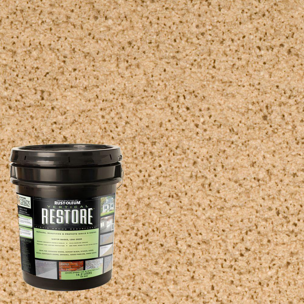 Rust-Oleum Restore 4-gal. Sandstone Vertical Liquid Armor Resurfacer for Walls and Siding
