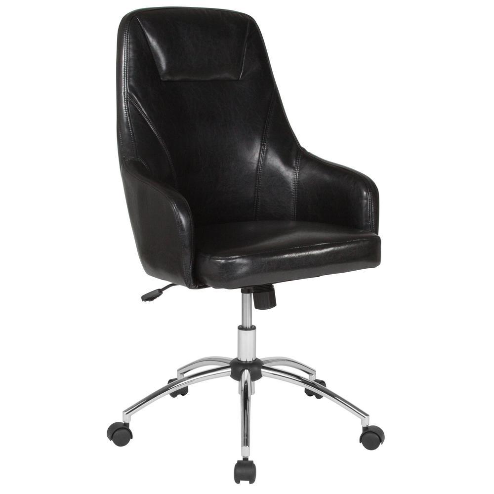 Flash Furniture Black Leather Office/Desk Chair CGA-BT-232158-BL-HD