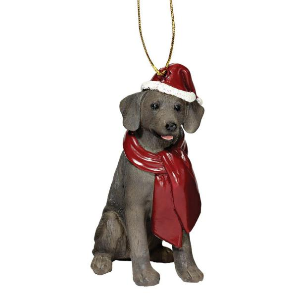 Design Toscano 3 5 In Weimaraner Holiday Dog Ornament Sculpture Jh576326 The Home Depot