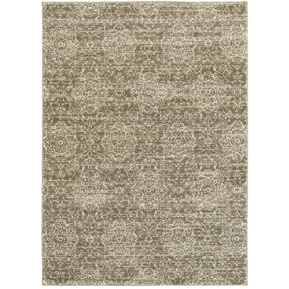Lr Resources Soft Shag Dark Beige Cream Rectangle 8 Ft X