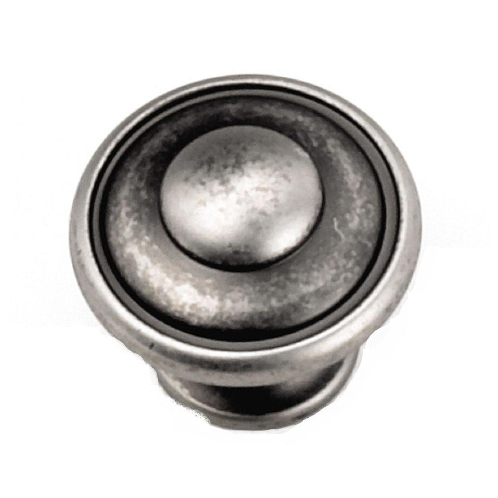 Laurey 1 1 8 In Antique Pewter Cabinet Knob 24106 The Home Depot