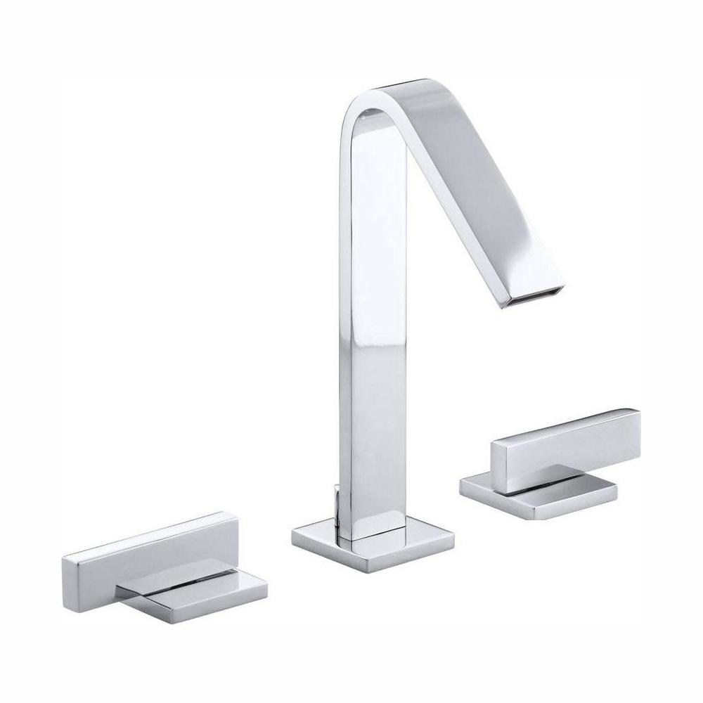 KOHLER Loure 8 in. Widespread 2-Handle Water-Saving Bathroom Faucet in Polished Chrome