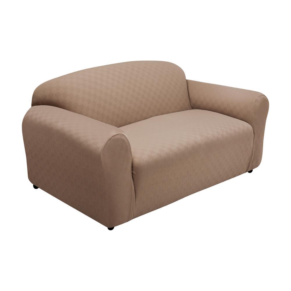 Wheat Newport Sofa Stretch Slipcover