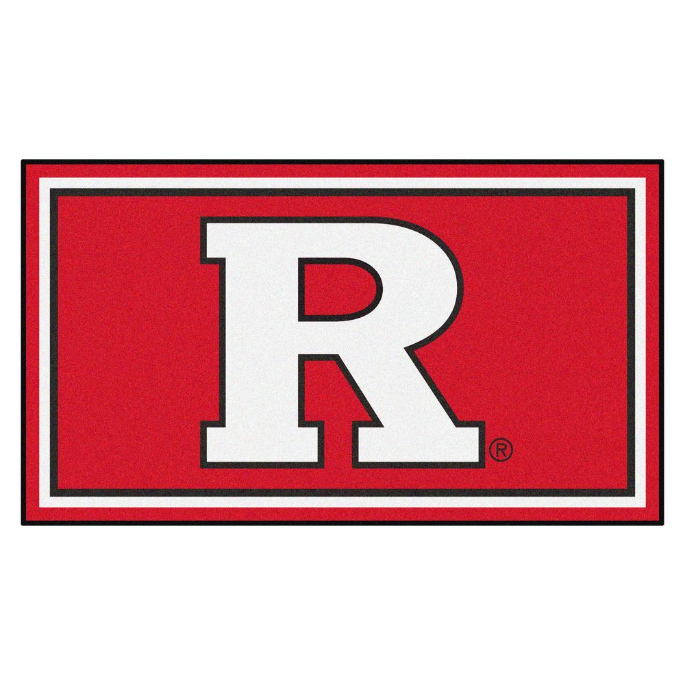 NCAA Rutgers University 3 ft. x 5 ft. Ultra Plush Area Rug