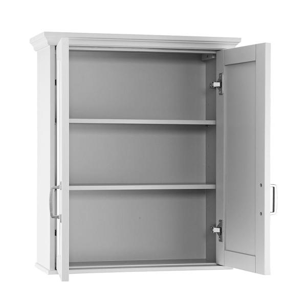 Home Decorators Collection Ashburn 23 1 2 In W X 27 In H X 8 In D Bathroom Storage Wall Cabinet In White Asww2327 The Home Depot