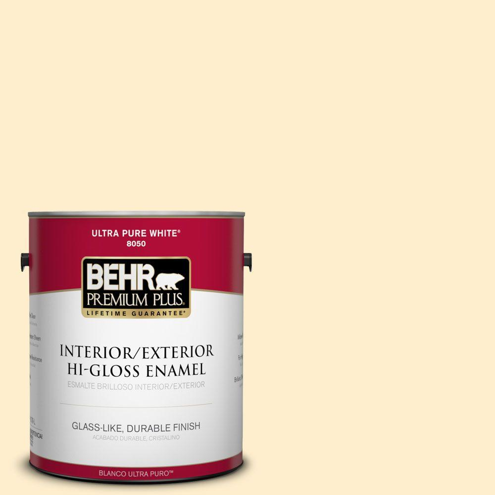 1-gal. #360A-2 Morning Sunlight Hi-Gloss Enamel Interior/Exterior Paint