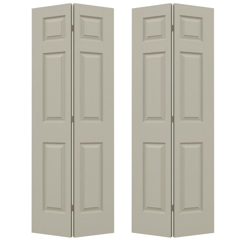 72 in. x 80 in. Colonist Desert Sand Painted Textured Molded
