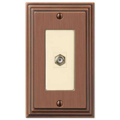 Steps 1 Coax Wall Plate - Antique Copper