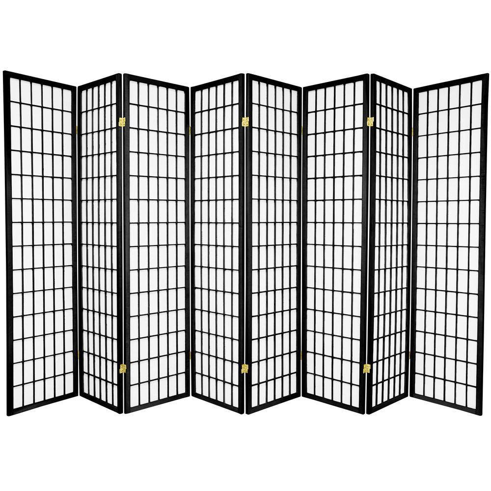 Oriental Furniture 6 ft. Black 8-Panel Room Divider SSCWP-8P-BLK