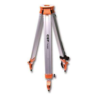 Heavy Duty Flat Head Wide Frame Aluminum Tripod with 5/8 in. -11 in. Wing Nut