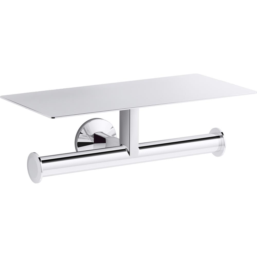 KOHLER Components Covered Double Toilet Paper Holder in Polished Chrome