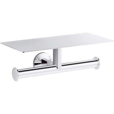 Components Covered Double Toilet Paper Holder in Polished Chrome