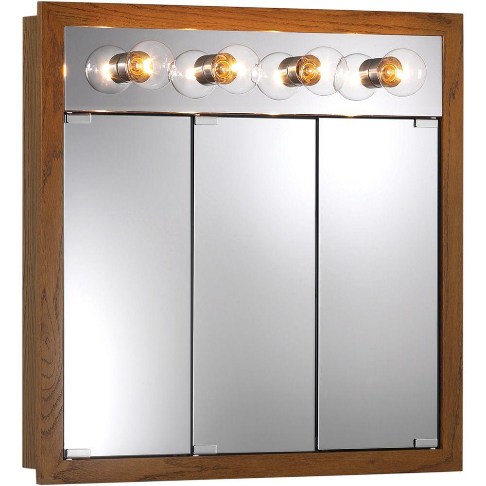 granville 30 in w x 30 in h x in d surface mount medicine cabinet in honey oak with 4. Black Bedroom Furniture Sets. Home Design Ideas