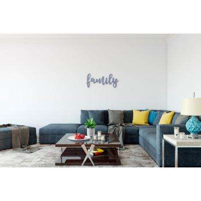 14.75 in. x 30.8 in. WWD-FAMILY 2 by Twelve Timbers, INC. Wooden Word Wall Art