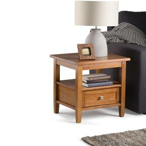Simpli Home Warm Shaker Honey Brown Storage End Table by Simpli Home
