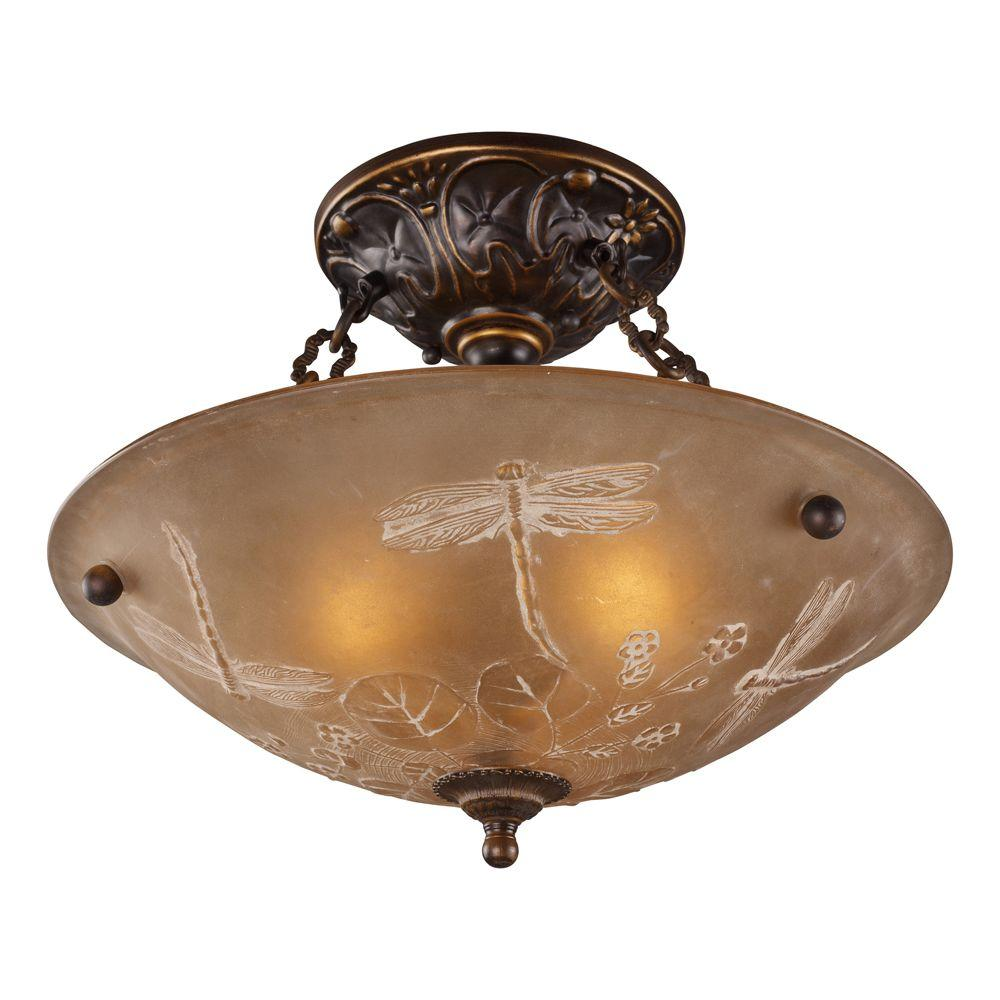 Titan lighting 3 light golden bronze ceiling semi flush mount light titan lighting 3 light golden bronze ceiling semi flush mount light aloadofball Choice Image