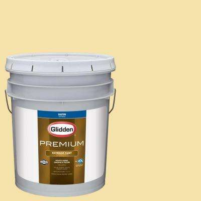 5-gal. #HDGY16D Summer Cottage Yellow Satin Latex Exterior Paint