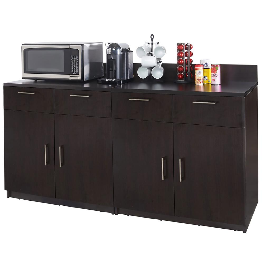 Coffee Kitchen Espresso Sideboard with Practical Lunch Break Room Functionality