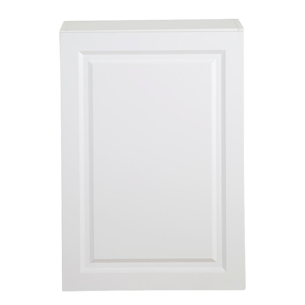 Hampton Bay Benton Assembled 21x12.5x30 in. Wall Cabinet in White