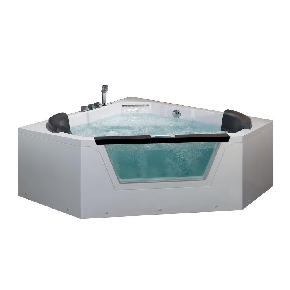 Ariel 5 ft. Whirlpool Tub in White-AM156JDTSZ - The Home Depot
