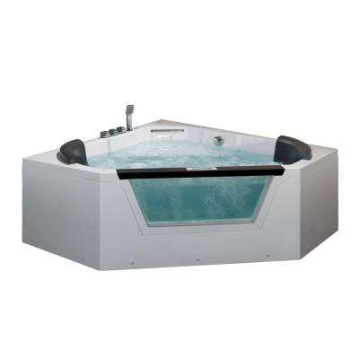 5 ft. Whirlpool Tub in White
