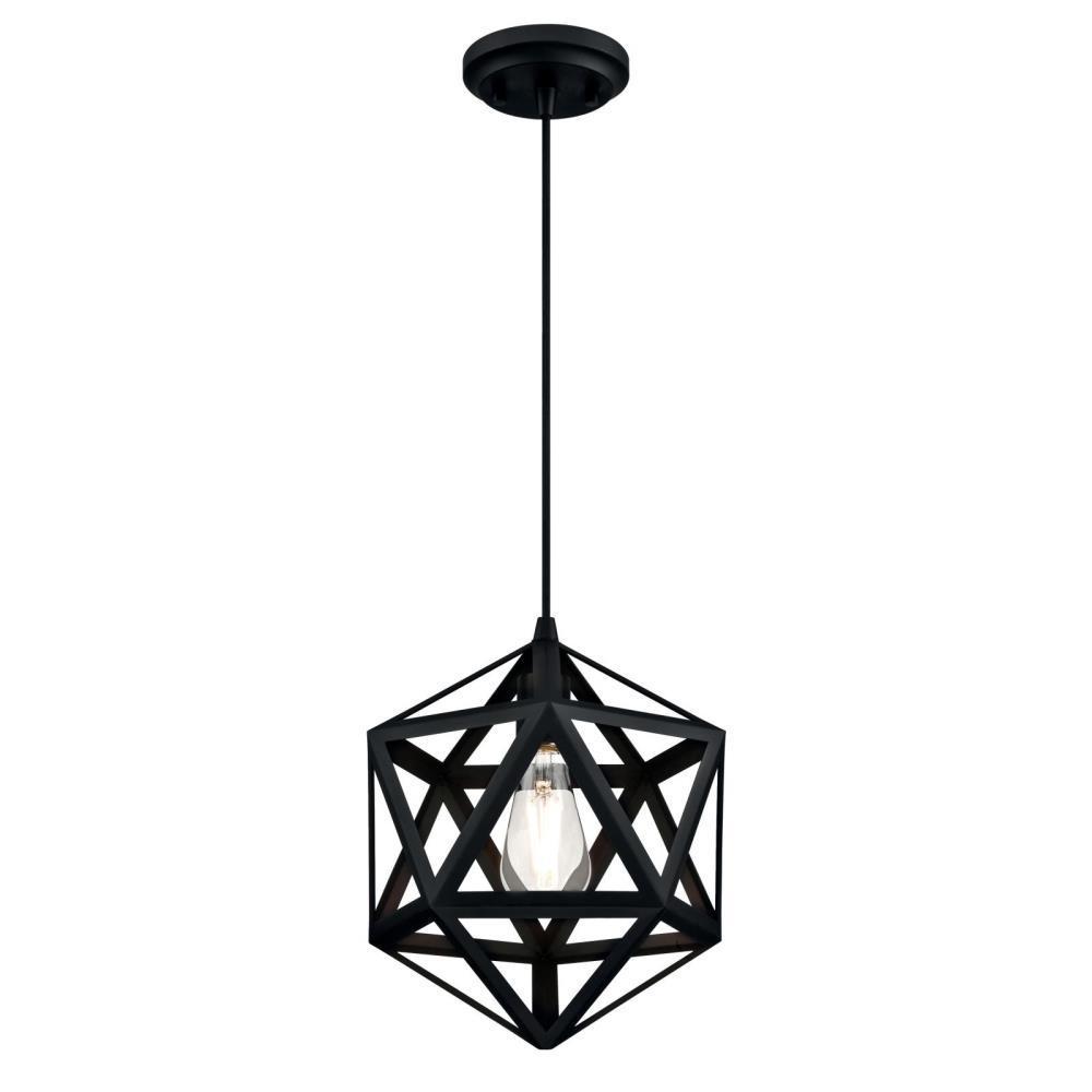 Westinghouse 1 Light Matte Black Pendant 6355700 The Home Depot